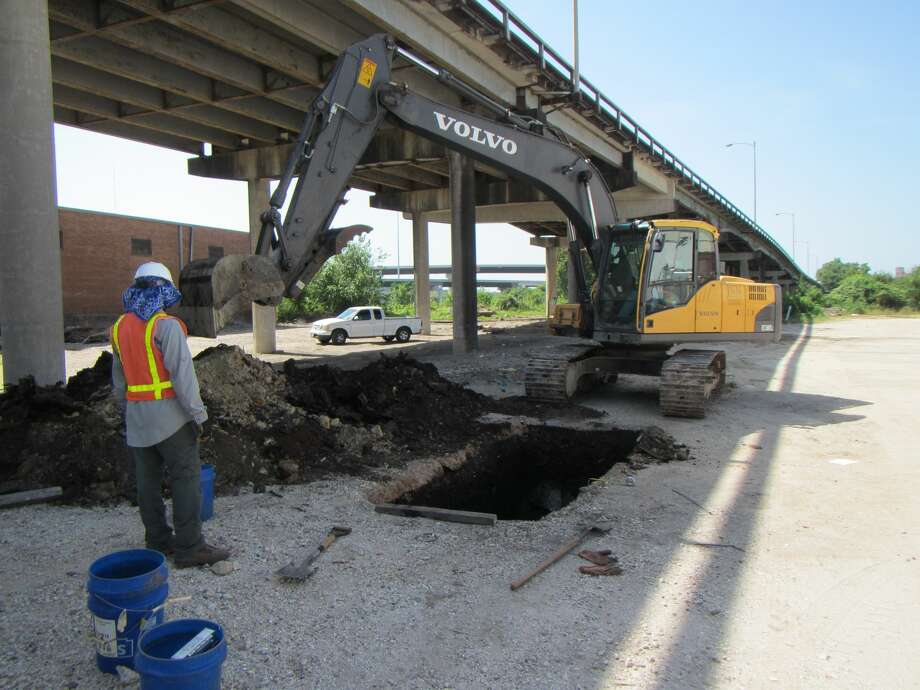 A dump site was discovered beneath the Elysian Viaduct, providing insight into the consumption of Houstonians and the political decision of its leaders at the time. Photo: Doug Boyd