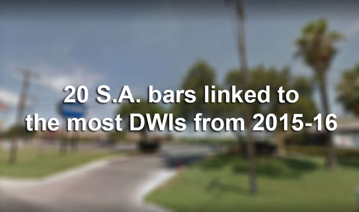 Click through to see the San Antonio-area bars associated with the most drunken driving arrests from 2015 through 2016, according to records from the TABC.