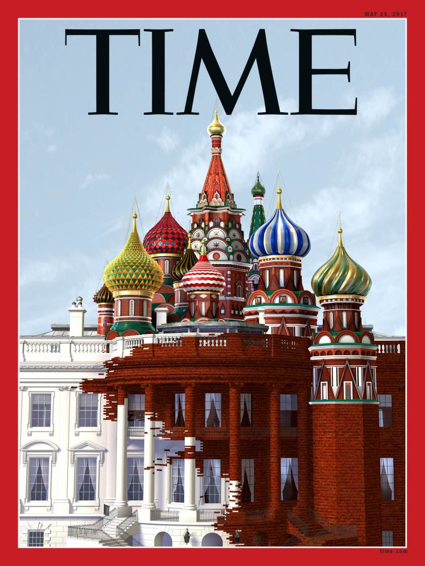 Striking Time Magazine Cover Shows Russia Taking Over The