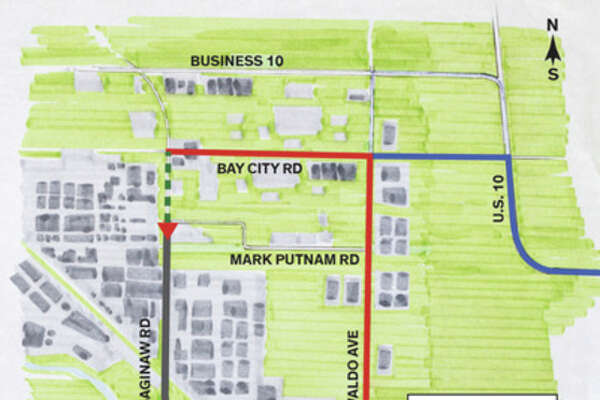 This map provided by Dow shows the proposed closure.