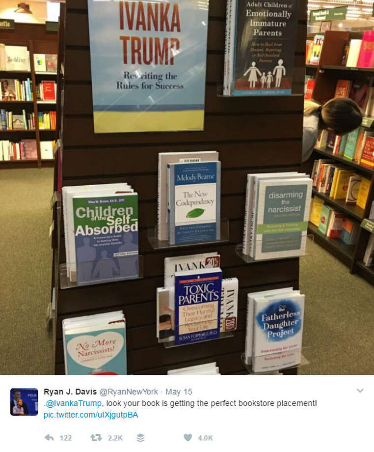 The display of Ivanka Trump's new book was trolled in an epic way. >>KEEP CLICKING TO SEE FACTS YOU MIGHT NOT HAVE KNOWN ABOUT THE FIRST DAUGHTER.Photo: Twitter Screenshot