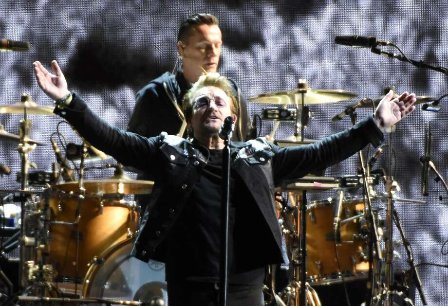 U2 perform during the band's 'Joshua Tree Tour 2017' at Levi's Stadium on May 17, 2017 in Santa Clara, California. Photo: (Photo By Tim Mosenfelder/Getty Images), Getty Images