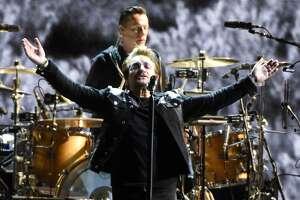 U2 perform during the band's 'Joshua Tree Tour 2017' at Levi's Stadium on May 17, 2017 in Santa Clara, California.