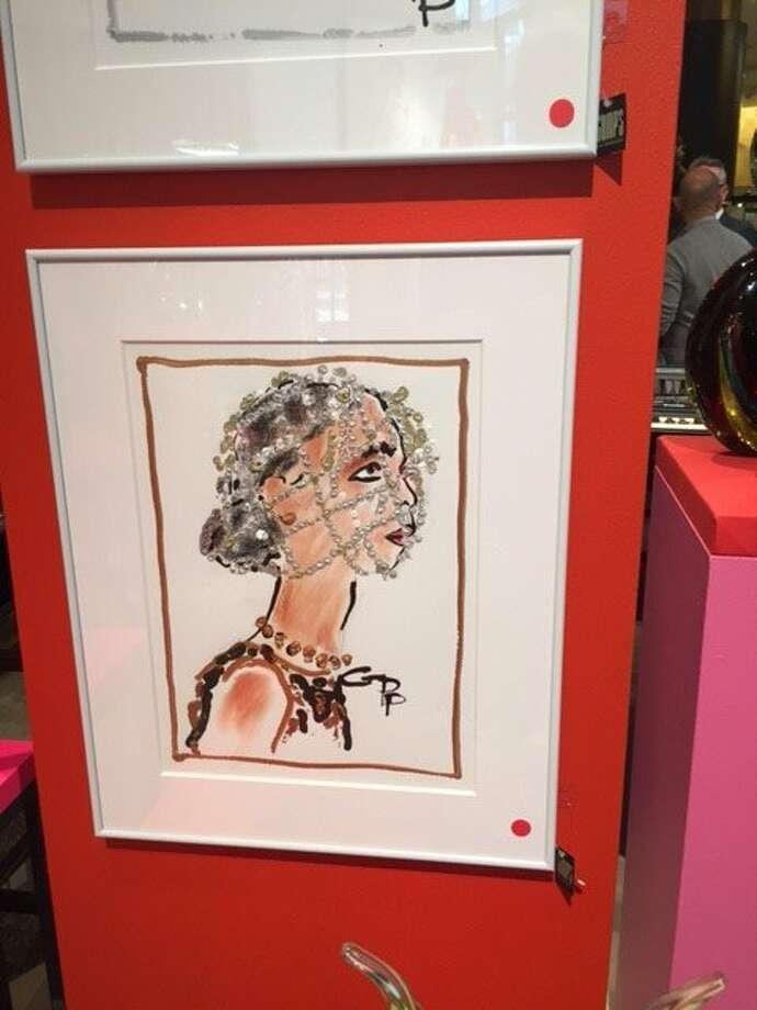 Drawing of Deepa Pakianathan by Gladys Perint Palmer. Photo: Leah Garchik, San Francisco Chronicle