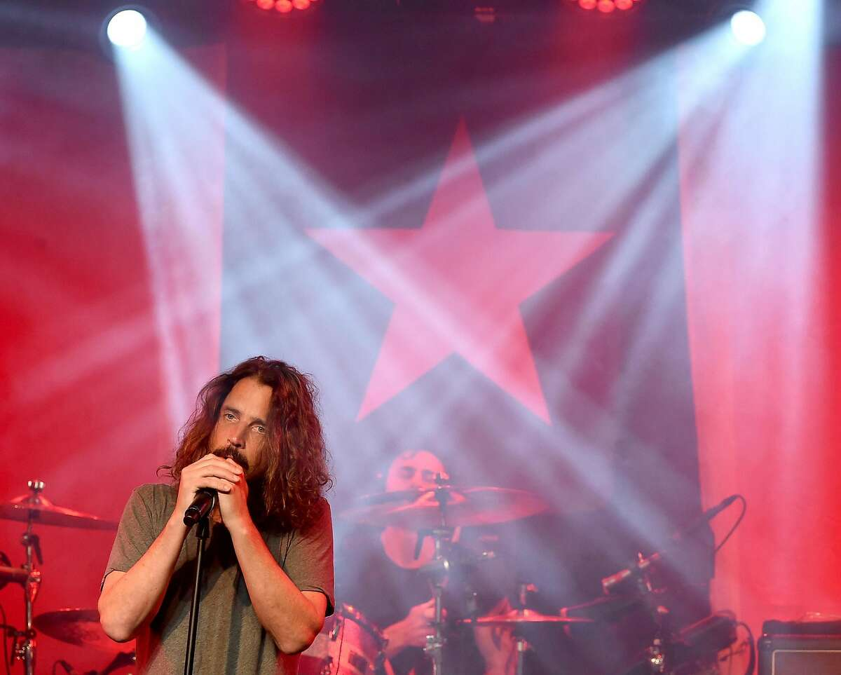Singer Chris Cornell performs at Prophets of Rage and Friends' Anti Inaugural Ball at the Taragram Ballroom on January 20, 2017 in Los Angeles, California.