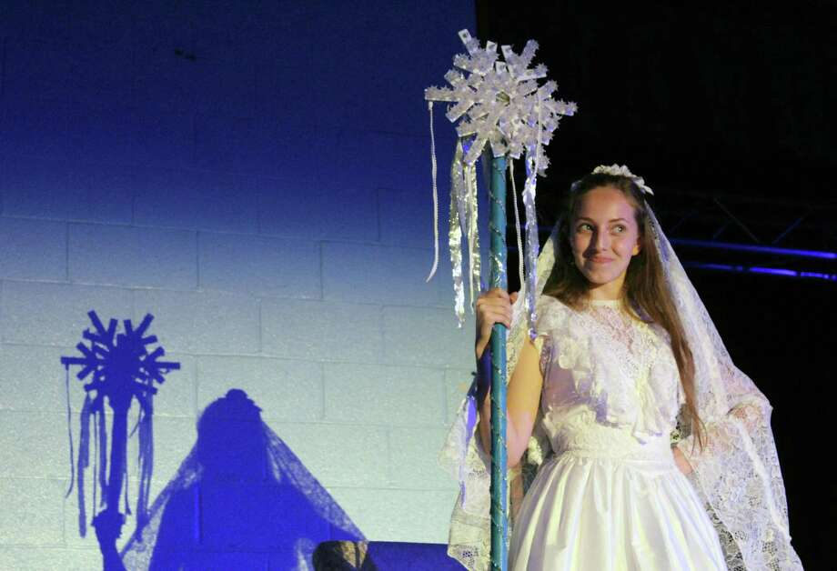 """Anastasiya Pshyk as the Snow Queen for Our Lady of Fatima School's production of """"The Snow Queen,"""" from May 20-21. Photo: Stephanie Kim / Hearst Connecticut Media"""