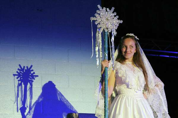 "Anastasiya Pshyk as the Snow Queen for Our Lady of Fatima School's production of ""The Snow Queen,"" from May 20-21."