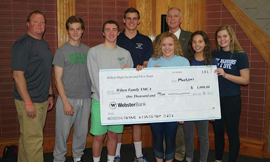 Wilton Swimmers Donate To Riverbrook Ymca The Hour