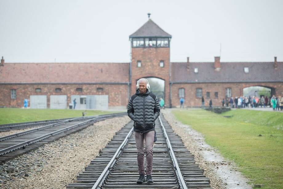 Former Seattle Sonic Ray Allen teams up with a young Rabbi, Simon Taylor and the 'From The Depths' Foundation to visit Auschwitz-Birkenau, Warsaw Ghetto, Warsaw Zoo, Holocaust hiding places and more. Photo: Elan Kawesch/FromTheDepths.org