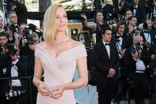"""CANNES, FRANCE - MAY 17:  Uma Thurman attends the """"Ismael's Ghosts (Les Fantomes d'Ismael)"""" screening and Opening Gala during the 70th annual Cannes Film Festival at Palais des Festivals on May 17, 2017 in Cannes, France.  (Photo by Samir Hussein/WireImage)"""