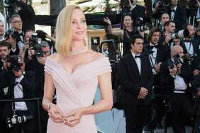 "CANNES, FRANCE - MAY 17:  Uma Thurman attends the ""Ismael's Ghosts (Les Fantomes d'Ismael)"" screening and Opening Gala during the 70th annual Cannes Film Festival at Palais des Festivals on May 17, 2017 in Cannes, France. Thurman shared a #MeToo post on Thursday, Nov. 23, 2017."