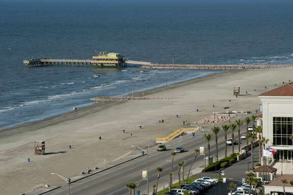 The brand new beach in front of the Galveston Island Convention Center at the San Luis Resort at 56th and Seawall from the $20 million Galveston Beach Renourishment Project.   >>Click to see