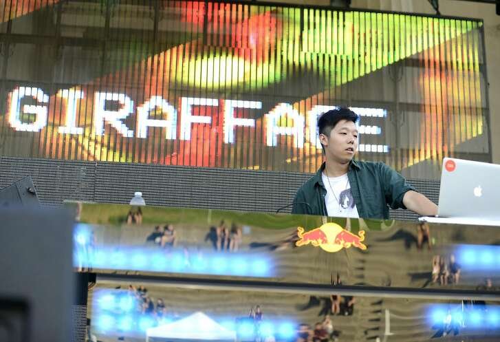 Giraffage performs during the Mad Decent Block Party at The Greek Theatre on September 11, 2015 in Berkeley, California.