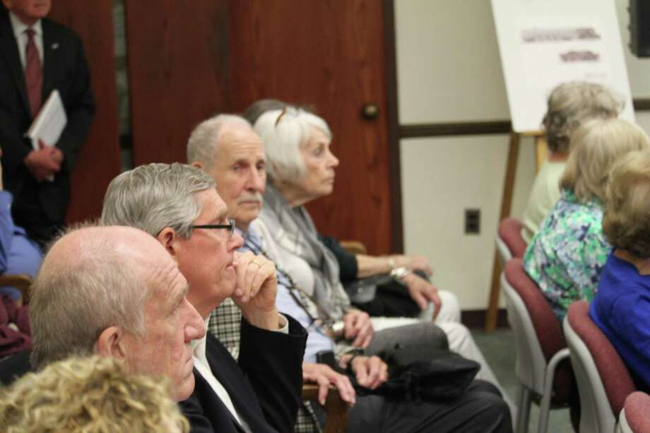 Seniors watch as the finance board mulls over a $3.9 million expenditure for the senior center's enhancement on May 17, 2017 at Westport Town Hall. Photo: Chris Marquette / Hearst Connecticut Media / Westport News