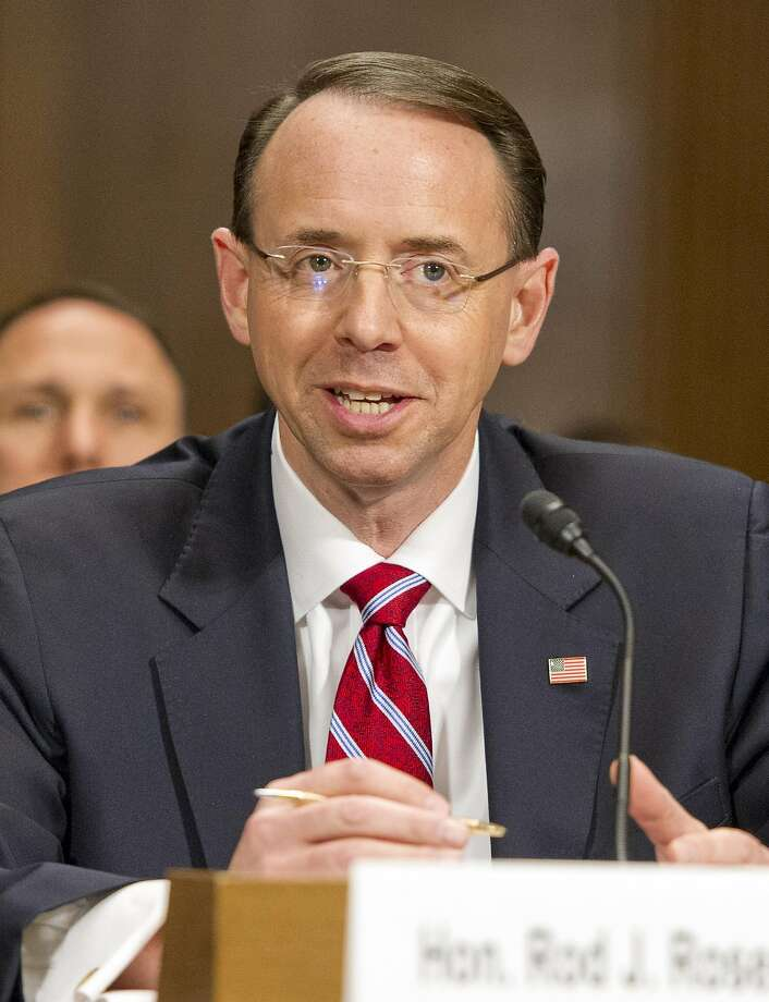 Rod Rosenstein said he was not pres sured into writing  a contro versial memo. Photo: Ron Sachs/CNP, TNS