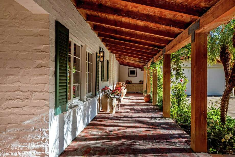 Duff McKagan of Guns N' Roses fame has listed his Spanish-style home, in the Sherman Oaks neighborhood of Los Angeles, for sale at $3.85 million. Mosiac tile, explosed beams and soaring ceilings are among features. The detached guesthouse contains a living room, bedroom, kitchenette and bathroom. (Mark Singer/TNS) Photo: Mark Singer / Los Angeles Times