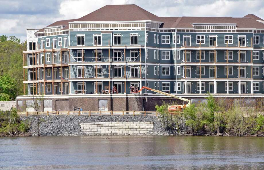 View across the Hudson River of waterfront development with multi-story buildings Thursday May 11, 2017 in Troy, NY.  (John Carl D'Annibale / Times Union) Photo: John Carl D'Annibale / 20040486A