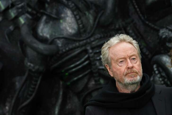 """British film director Ridley Scott, whose most recent film """"Alien: Covenant"""" opens in Houston Friday, says scaring people is the hardest thing to do."""