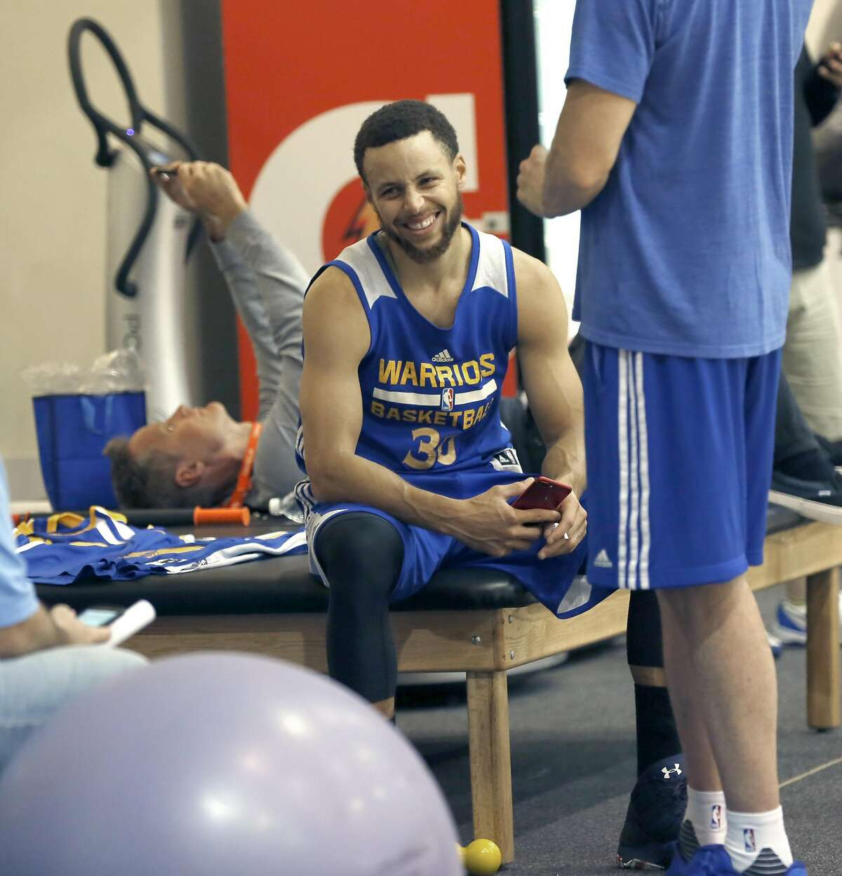Warriors guard Steph Curry has signaled a reluctance to visit the White House in statements earlier this year. File photo - Warriors Steph Curry after practice on Thursday, May 18, 2017, in Oakland, Calif.