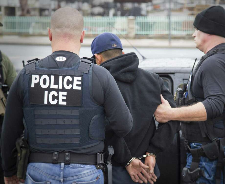 Immigration and Customs Enforcement arrest foreign nationals Feb. 7 during a targeted enforcement operation aimed at immigration fugitives, re-entrants and at-large criminal aliens in Los Angeles. A new office set up for victims of criminals who are immigrants will leave the false impression that immigrants are prone to commit serious crimes. They are not. Photo: Charles Reed /Associated Press / Public Domain Charles Reed/U.S. Immigration and Customs Enforcement