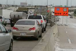Traffic backs up along Loop 610 northbound near the U.S. 290 interchange on May 17. A new ramp opening sometime before 5 a.m. On May 22 will address some of the weaving common as commuters jockey for position to access the freeways.