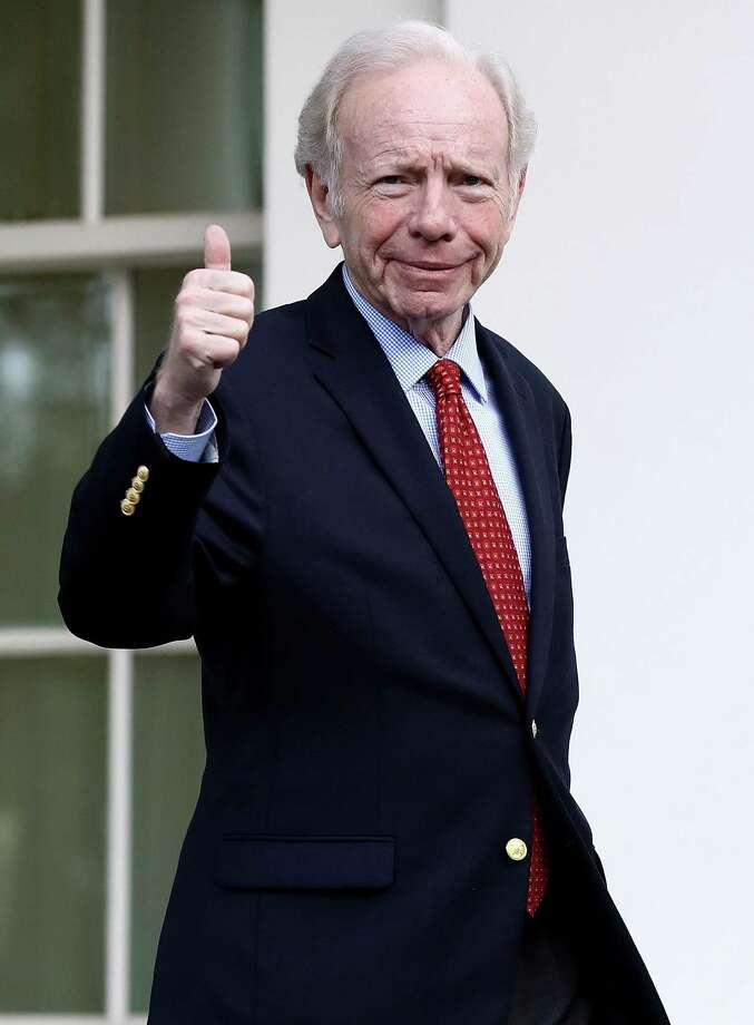 Former U.S. Sen. from Connecticut Joe Lieberman departs the White House after meeting with U.S. President Donald Trump May 17, 2017 in Washington, DC. Trump is interviewing candidates to replace former FBI Director James Comey who was fired last week. Photo: Win McNamee / Getty Images / 2017 Getty Images