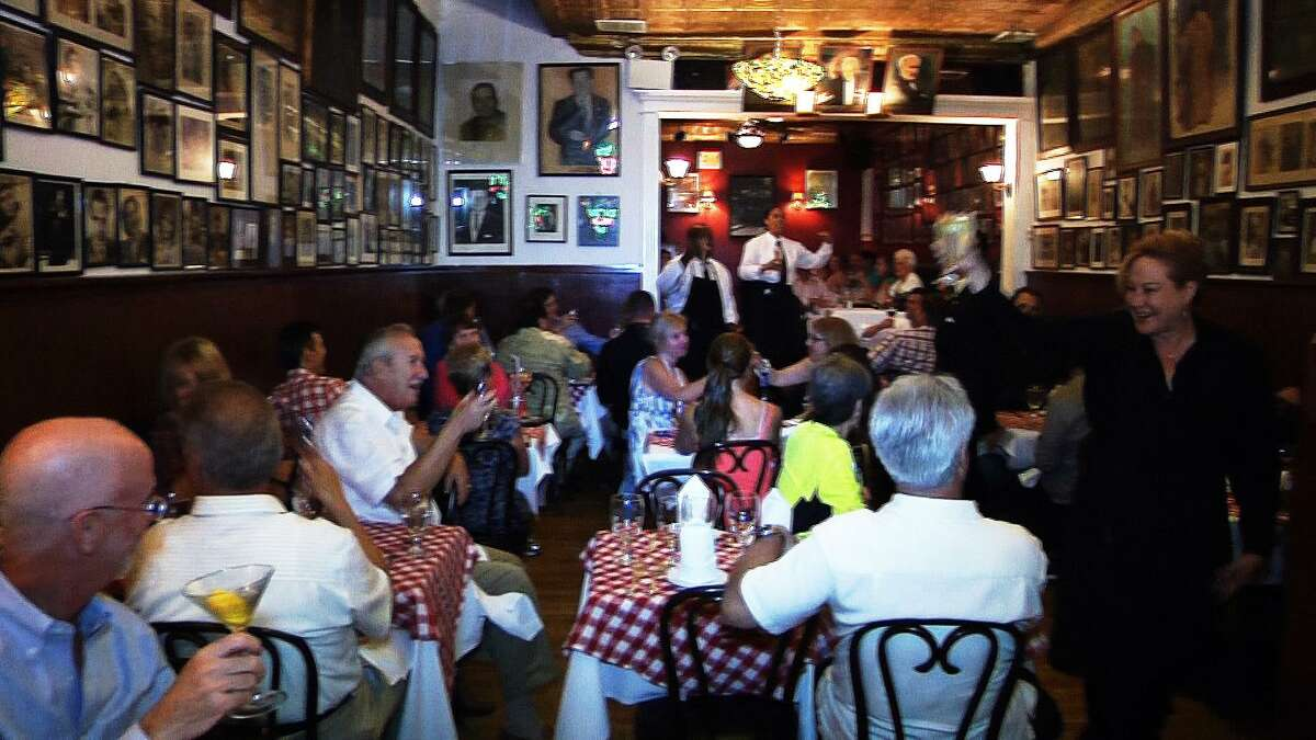 All of the waitstaff at the Victor Cafe in South Philadelphia are opera singers who perform arias every 15 minutes or so. Some are students at the city's famed Curtis Institute of Music.