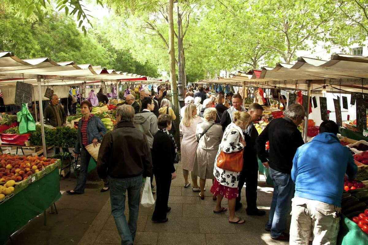 Paris market on the Ile-de-France.Millennial travelers seem especially drawn to