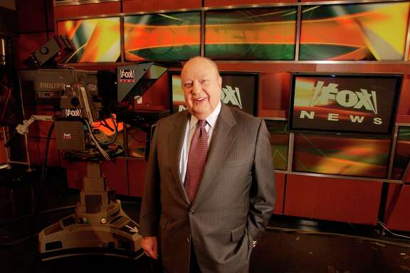 FILE - In this Sept. 29, 2006 file photo, Fox News CEO Roger Ailes poses at Fox News in New York.  Fox News said on Thursday, May 18, 2017, that Ailes has died. He was 77. (AP Photo/Jim Cooper, file)