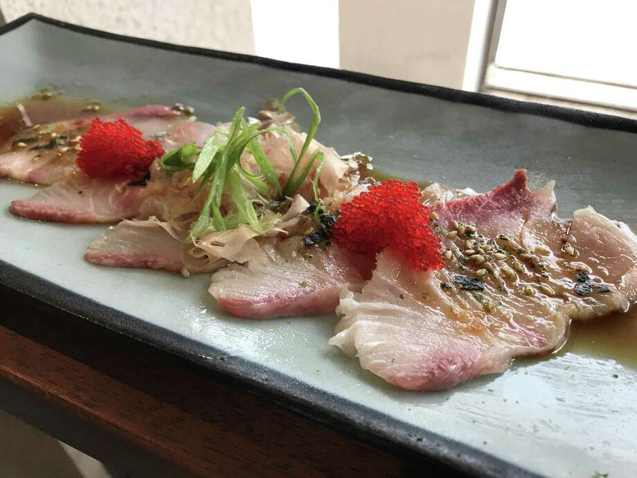 Hanzo's hamachi sashimi. Hanzo is the new Japanese gastropub that opened May 18 on Broadway. Photo: Emily Spicer / San Antonio Express-News, Hanzo / San Antonio Express-News / San Antonio Express-News