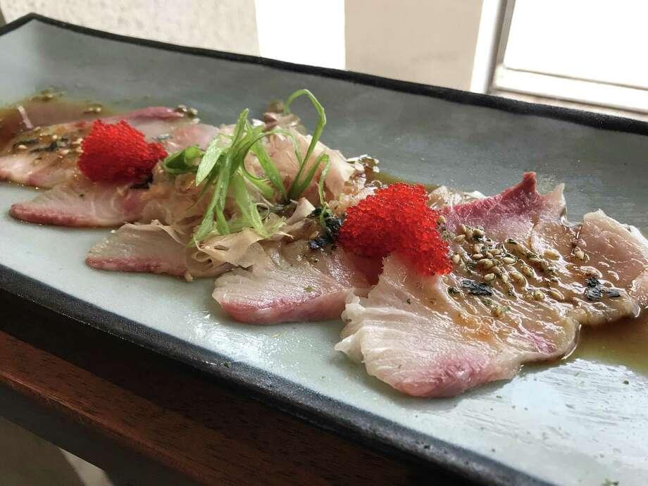 Hanzo's hamachi sashimi. Hanzo is the new Japanese gastropub that opened May 18 on Broadway. Photo: Emily Spicer / San Antonio Express-News, Hanzo / San Antonio Express-News / San Antonio Express-News