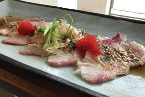 Hanzo's hamachi sashimi. Hanzo is the new Japanese gastropub that opened May 18 on Broadway.
