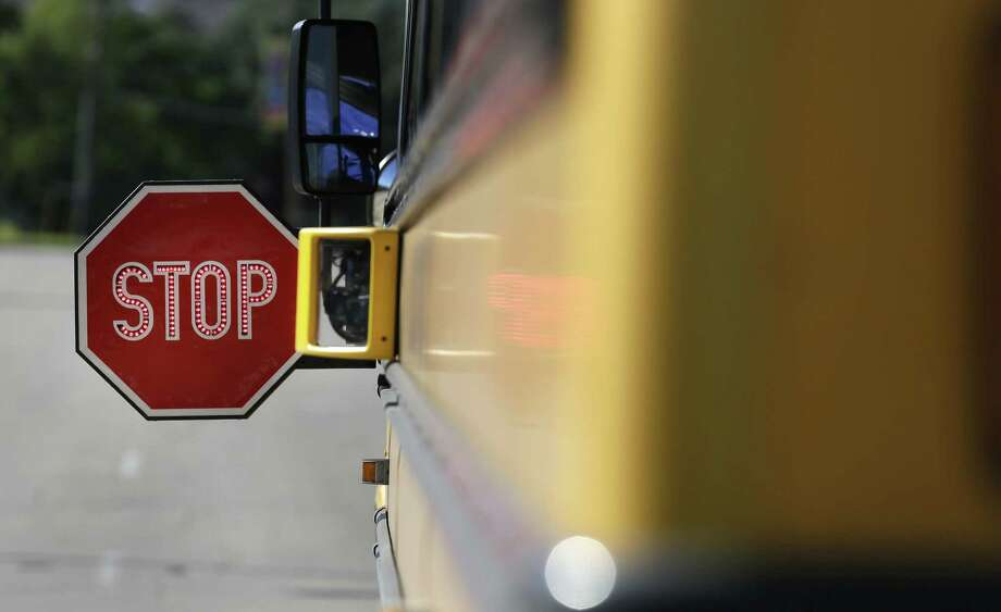 On a 91-43 vote, the Texas House gave preliminary approval to Senate Bill 693, which would require school buses bought in 2017 or later to have three-point lap and shoulder seat belts similar to those in cars. Photo: LM Otero /Associated Press / Copyright 2016 The Associated Press. All rights reserved.