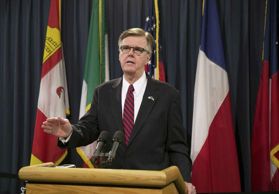 Lt. Gov. Dan Patrick issued an ultimatum to the Texas House on Wednesday, saying he must see passage of two of his priorities property tax relief and limits on transgender-friendly bathroom policies before the Senate will act on key legislation to keep some state agencies operating. Photo: Deborah Cannon /Austin American-Statesman / Austin American-Statesman