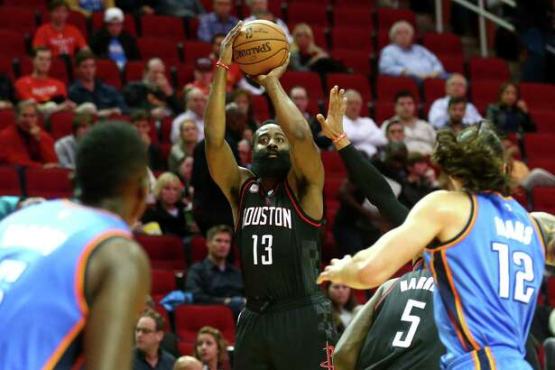 The 56.2 points the Rockets averaged per game off guard James Harden's scoring and assists were the second most in NBA history.