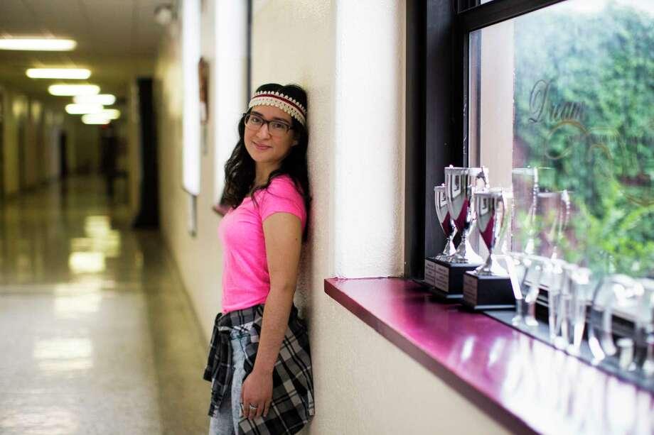 Sofia Alfaro, 18, has won a full scholarship to Georgetown University in Washington, D.C.  Photo: Marie D. De Jesus, Staff / © 2017 Houston Chronicle
