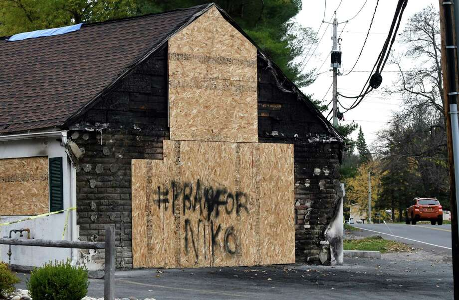Exterior of Blessing's Tavern at the intersection of Consaul and Watervliet Shaker Roads on Wednesday, Nov. 2, 2016, in Colonie, N.Y. The building suffered heavy damage after Michael Carr, 18, crashed a car into the tavern on Friday, badly injuring a passenger, Niko D. Dinovo, 16. (Will Waldron/Times Union) Photo: Will Waldron / 20038618A