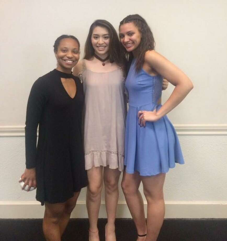 Alexander's Dannia González, center, is set to play in the TABC All-Star game alongside Lexi Gordon, right, a University of Connecticut commit and Gabby Connally a Georgia commit. Photo: Courtesy Photo