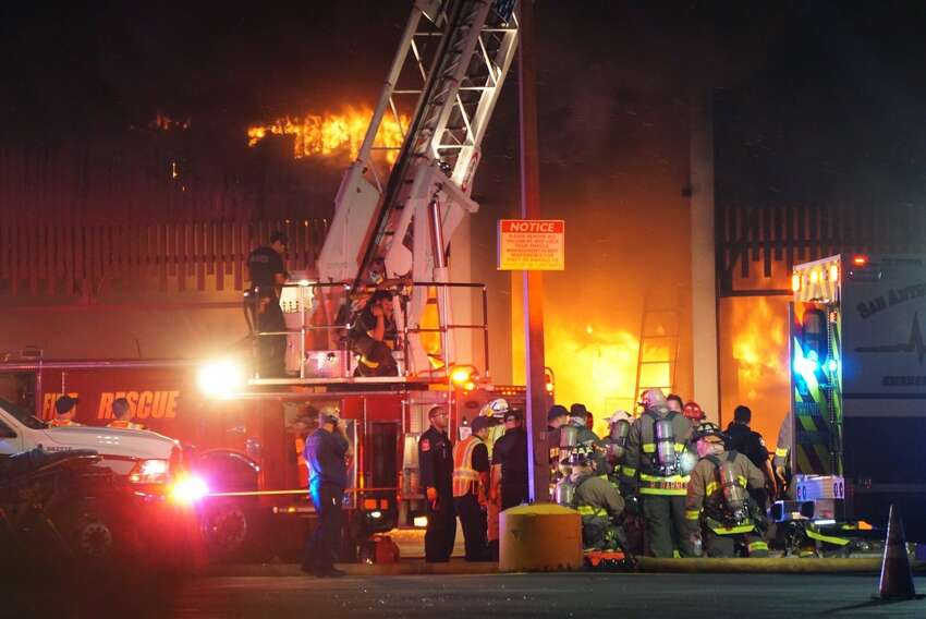 1. A firefighter who entered the building with several others that night pulled down ceiling tiles, which brought the fire down on him and Firefighter Scott Deem.