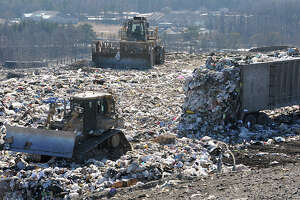 Trash is dumped at the Albany landfill on Monday, Feb. 6, 2012 in Albany, N.Y.  (Lori Van Buren / Times Union)