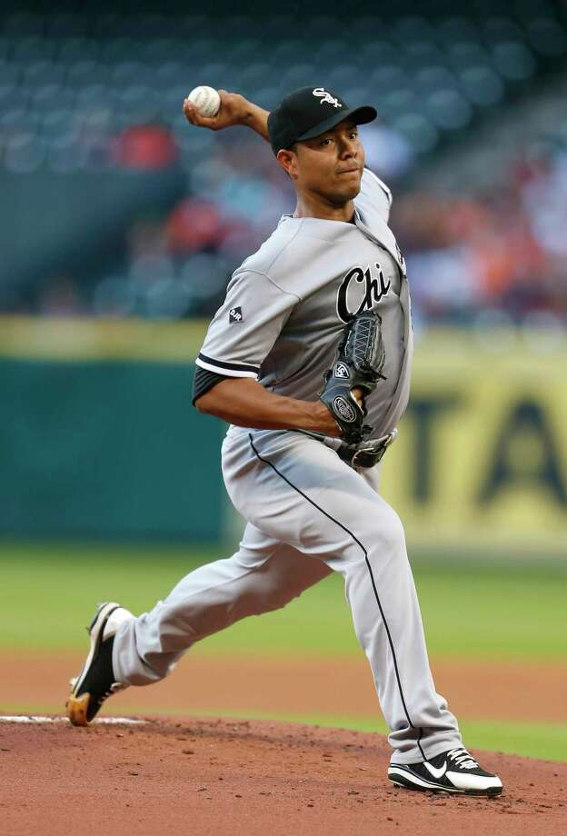 White Sox pitcher Jose Quintana, whose contract includes team options through 2020, has been discussed as a possible trade target for the Astros dating to last offseason. Photo: Karen Warren, Staff / © 2014 Houston Chronicle