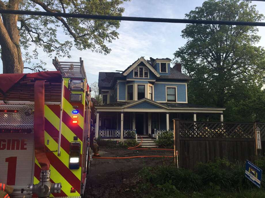 Lightning struck 1613 New Scotland Road in Slingerlands during Thursday night's storm, causing a fire that damaged the 100-year-old home. Photo: Emily Masters / Times Union