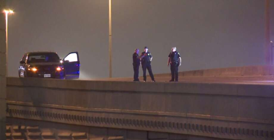 One person is dead and two are injured after a motoryclist drove early Friday the wrong way down the Katy Freeway. (Metro Video) Photo: Metro Video