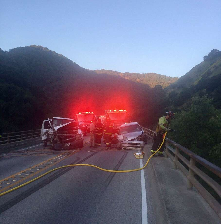Two people were transported to a hospital after a head-on collision early Friday morning on Niles Canyon Road in the East Bay, officials said.