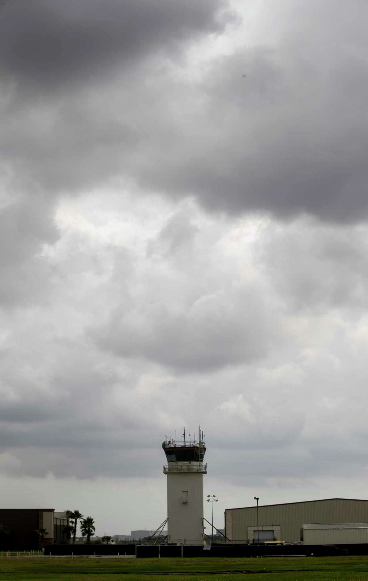 The control tower at Ellington Airport is seen Tuesday, May 9, 2017, in Houston. ( Jon Shapley / Houston Chronicle )