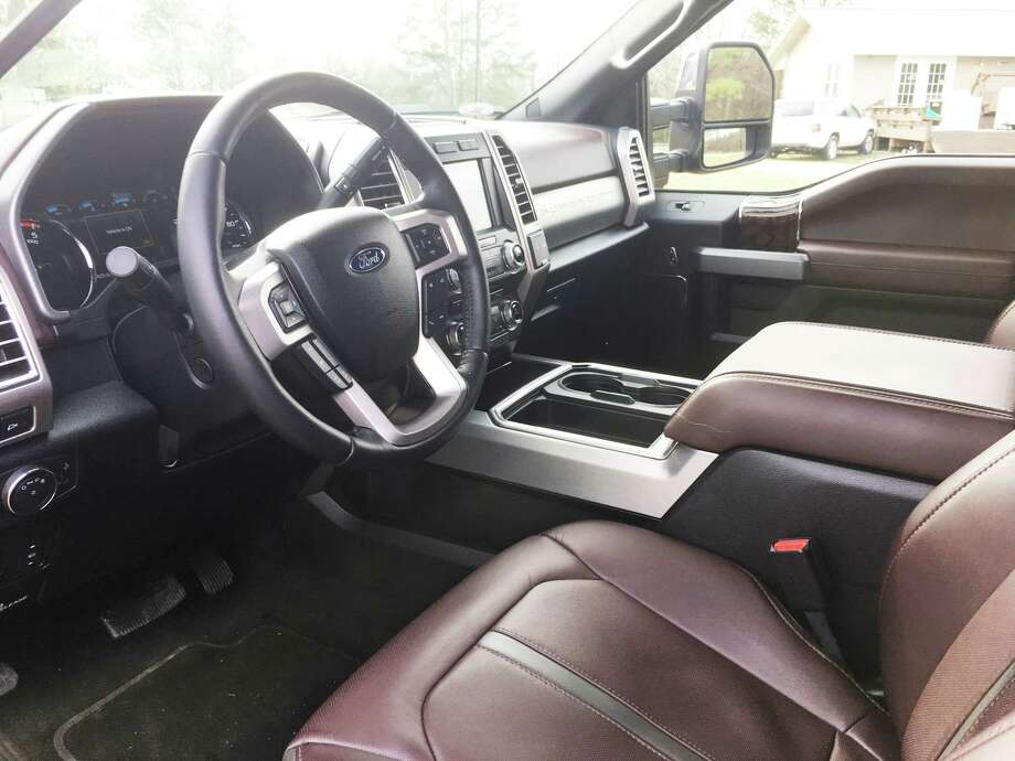 The redesigned 2017 Ford F-350 Super Duty comes in this Platinum version, which includes leather seats and other luxury amenities. Photo: G. Chambers Williams III