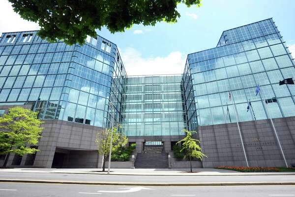 The BLT Financial Centre on East Main Street and Elm Street, in downtown Stamford, houses offices for Deloitte and Henkel, two companies participating in the state's First Five Plus program.