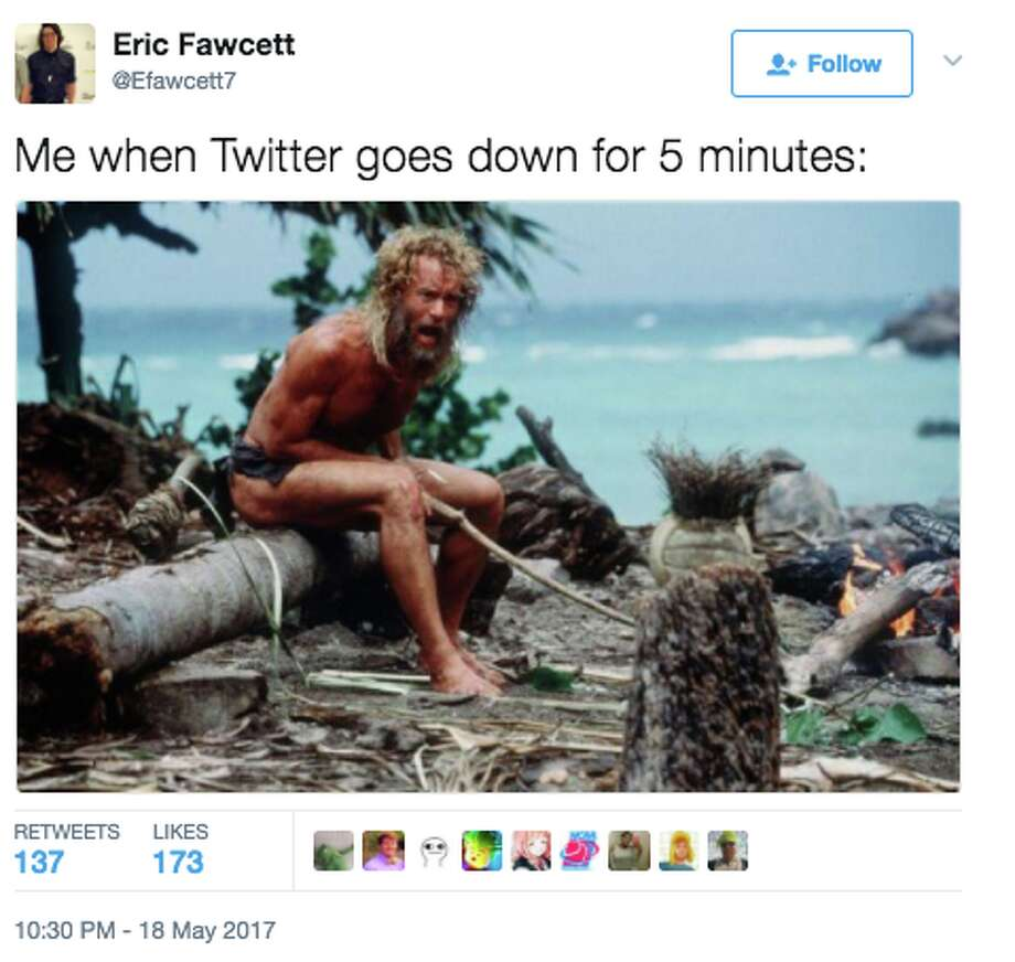 Twitter experienced intermittent outages on Friday, May 19, 2017, and people had funny things to say about it. Photo: Twitter Screen Grab