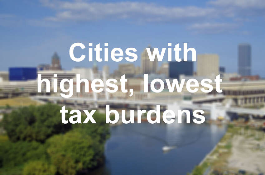 Click through the slideshow to see cities with the highest and lowest effective property tax rates on a median valued home, according to a study published in the Lincoln Institute of Land Policy .