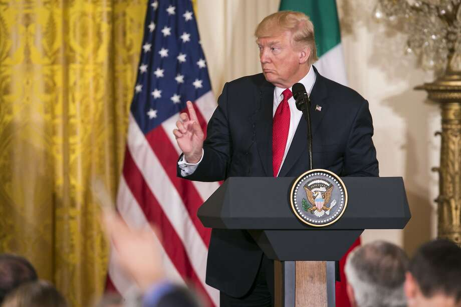 President Donald Trump, at the White House in Washington, April 20, 2017. The New York Times found Trump to have made false statements on virtually every working day of his presidency; on April 20 he accused Iran of not adhering to the spirit of the nuclear deal, a day after his State Department confirmed that Tehran was in fact complying. (Al Drago/The New York Times) Photo: AL DRAGO, NYT